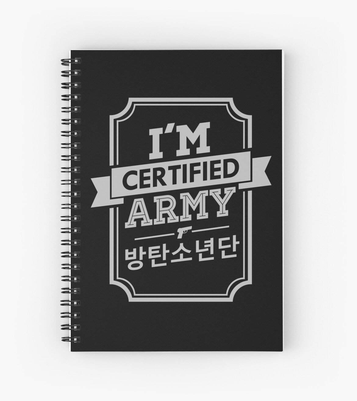 Quot Certified Bts Army Quot Spiral Notebooks By Skeletonvenus