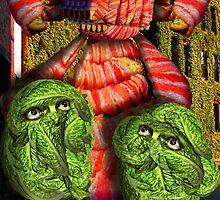 Lettuce Men Looking at the Bacon Poser Man by GolemAura