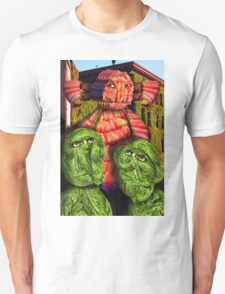Lettuce Men Looking at the Bacon Poser Man Unisex T-Shirt