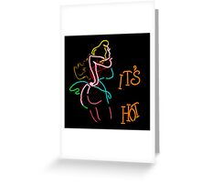 neon porn sign Greeting Card