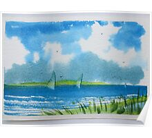 Watercolor Seascape  Poster