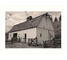 Portentous skies over enduring barn Art Print