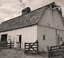 Portentous skies over enduring barn by Timothy S Price