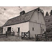 Portentous skies over enduring barn Photographic Print