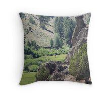 Eastern Oregon - Hwy 245 Balancing Rock Throw Pillow
