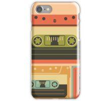Triple Casette Tape Coloured iPhone Case/Skin