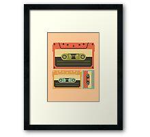 Triple Casette Tape Coloured Framed Print