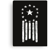 Old World America Flag [WHITE] Canvas Print