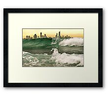 OUTSIDE OF  THE CITY Framed Print