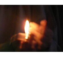 Candle Glow Bright, BurnBright on A Dark night Photographic Print