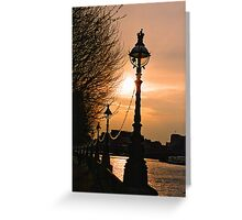 South Bank Along The River Thames. London, England Greeting Card