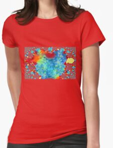 Colourful Funky Fractal Art Womens Fitted T-Shirt