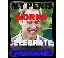 Prince William Celebration Peasants Meme. Photographic Print