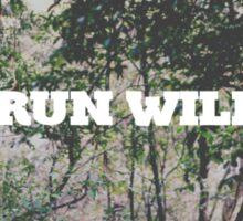 RUN WILD Sticker