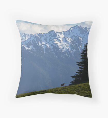Hurricane Ridge View Throw Pillow