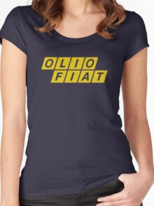 Olio Fiat - Yellow Women's Fitted Scoop T-Shirt