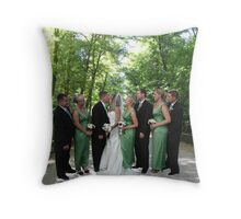 The Bridal Party In the Garden Throw Pillow