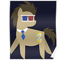 My Little Pony - Dr Hooves BBBFF (Song) Style (With 3D Glasses and Tie) Poster