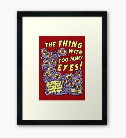 Too Many Eyes Framed Print