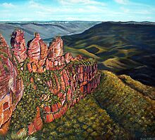 Three Sisters, Blue Mountains, Australia by © Linda Callaghan