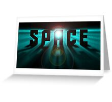 Space effect Greeting Card