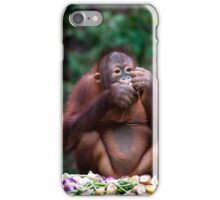 Orang utan breakfast iPhone Case/Skin
