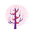 Tree,birds and candles  by Voila and Black Ribbon