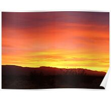 Catching the last Rays of the Day Poster