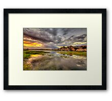 Sundown at Willow Lake Framed Print