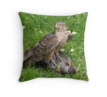 Nature Red in Tooth and Claw Throw Pillow