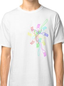 Forks in color Classic T-Shirt