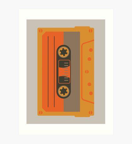 Casette Funk Alone - Big Orange Art Print