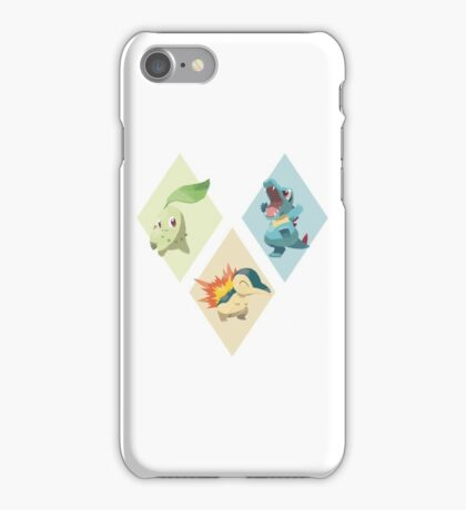 Pokemon Low Poly - 2nd Gen Starters iPhone Case/Skin