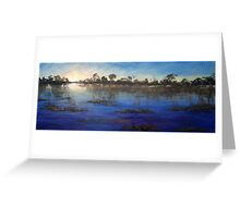 Last light Okavango Swamp Greeting Card