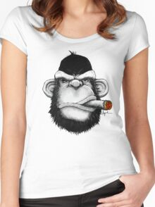 Cigar Monkey Women's Fitted Scoop T-Shirt