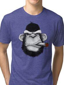 Cigar Monkey Tri-blend T-Shirt