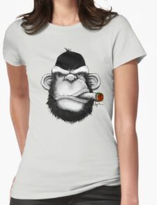 Cigar Monkey Womens Fitted T-Shirt
