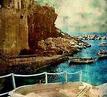 Cinque Terre Boat by Angie Muccillo