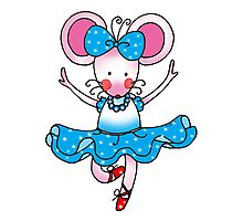 Cute mouse girl ballet dancer Photographic Print