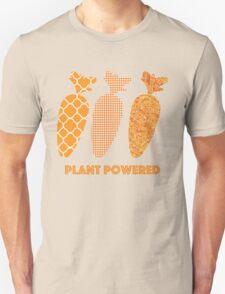 'Plant Powered' Carrot Design Vegan T-shirt T-Shirt