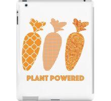 'Plant Powered' Carrot Design Vegan T-shirt iPad Case/Skin