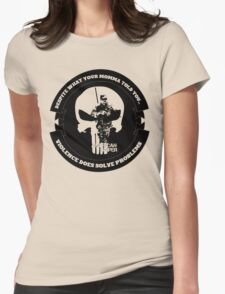 AMERICAN SNIPER CRAFT C.R.A.F.T. VIOLENCE SOLVE PROBLEMS Womens Fitted T-Shirt