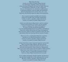 Major General's song - Pirates of Penzance - Gilbert & Sullivan by lyricalshirts