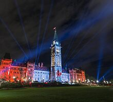 Canada's Parliament building at night - Ottawa, Canada by Josef Pittner