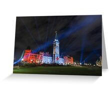 Canada's Parliament building at night - Ottawa, Canada Greeting Card