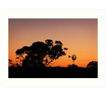 Turlee Station Sun Rise over Dams Art Print