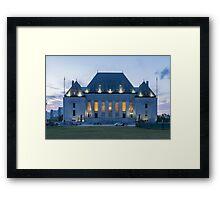 Supreme Court of Canada building - Ottawa, Canada Framed Print