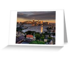Kissed  # 2 - Sydney Harbour, Sydney Australia (30 Exposure HDR Panorama)- The HDR Experience Greeting Card