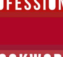 Professional Bookworm Sticker