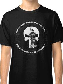 AMERICAN SNIPER CRAFT C.R.A.F.T. VIOLENCE SOLVE PROBLEMS DARK Classic T-Shirt